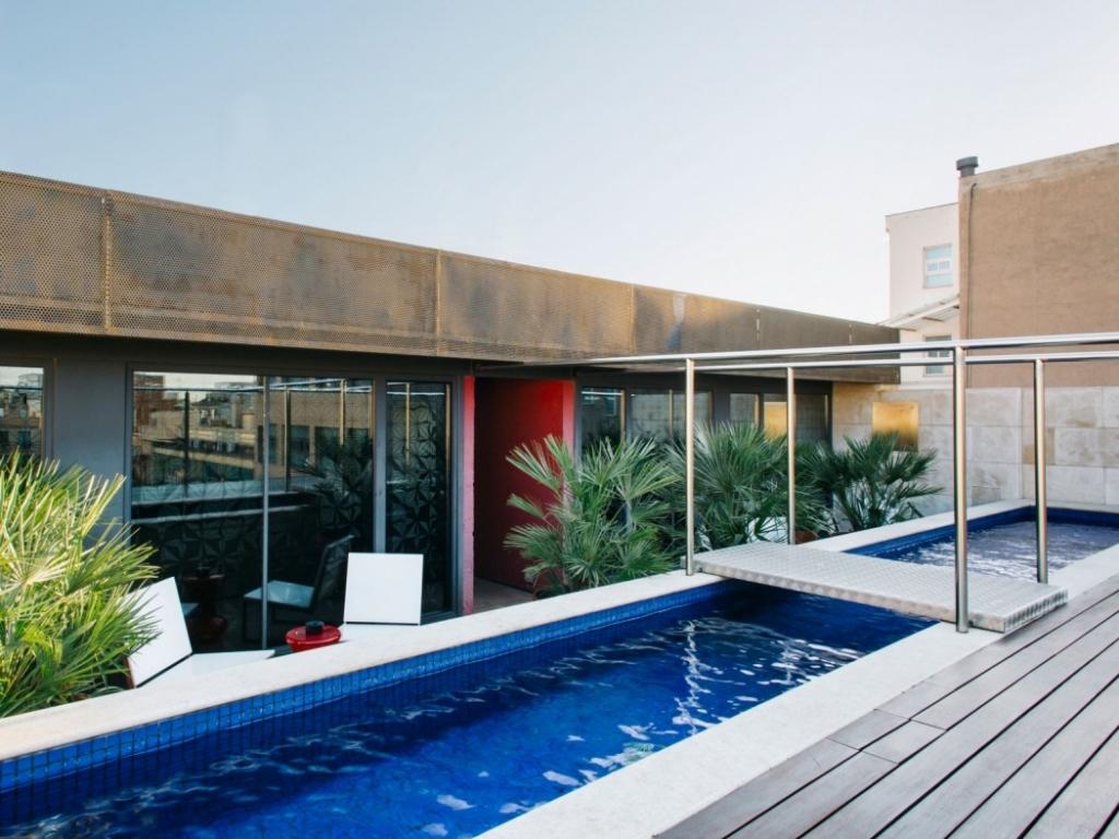 hotel pool in spain